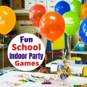 Super Fun & Easy School Party Games for Kids. Indoor Games to play in Elementary School for Halloween, Christmas, Valentine's Day, End of School Year and more. Any time you need a fun classroom game for Teachers or Room Parents. Quick games they'll love.