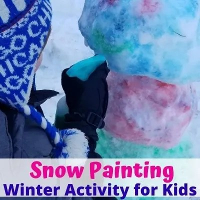 How to Make Snow Paint for a fun Winter Activity for Kids. They'll love snow painting new creations on their next Snow day.