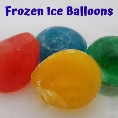 How to Make Ice Balloons. A fun science experiment at home for kids.