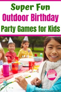 Best Outdoor Birthday Party Games for Kids. Fun backyard party games kids will enjoy playing and are easy for parents to create. Throw the best at home birthday party for your kids. #birthdayparty #outdoorgames #outdoorpartygames #kids.