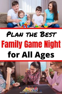 Best Family Games to Play at home on Family Game Nights. Quick tips on how to plan your game night and which games to play for preschoolers to Teens. A great way to spend time together as a family. #familygamenight