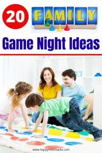 20 Fun Family Game Night Ideas. Easy ways to host a family game night and fun game ideas the whole family will love playing. A great way to spend time together as a family. #familygamenight
