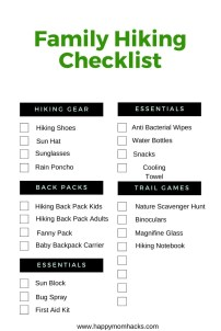 Free Printable Hiking Checklist PDF for kids and families. Be prepared for a fun hike with kids.