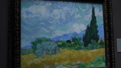 Londres National Gallery_13 - Vincent Van Gogh - A Wheatfield with Cypresses