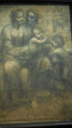 Londres National Gallery_3 - Léonard de Vinci - La Vierge l'Enfant Jésus avec sainte Anne et saint Jean-Baptiste