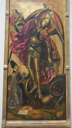 Londres National Gallery_5 - Bartolemé Bermejo - Saint Michael Triumphs Over The Devil