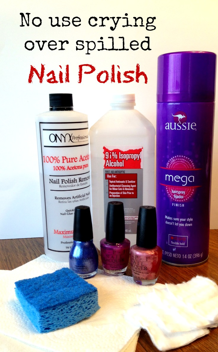 I Never Knew Could Get Rid Of Spilled Nail Polish This Easily Easy