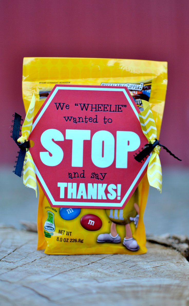 Stop And Say THANKS Bus Driver Gift Idea FREE PRINTABLE