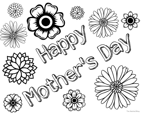Mother Day Coloring Sheets 2018