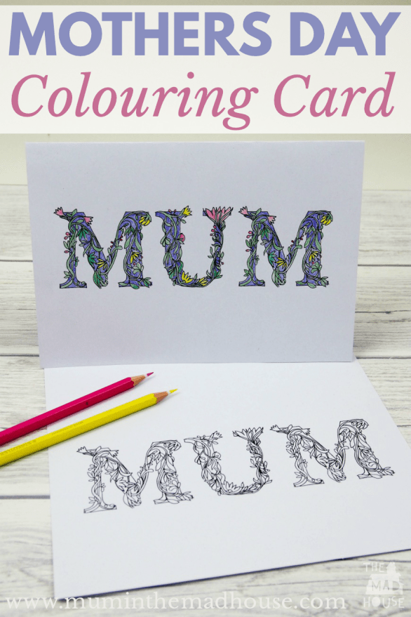Free Mothers Day Coloring Cards