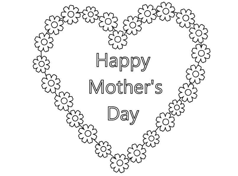 Happy Mothers Day Coloring Pages 2018 – Free Printable Mothers Day ...