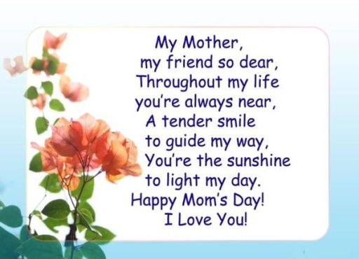 Best Mothers Day Poems Images