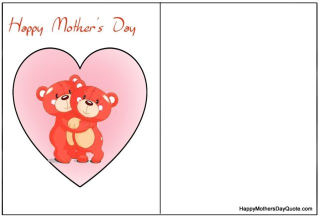 unique happy mothers day cards to print for free