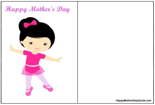cute mothers day double sided printable cards to print for free
