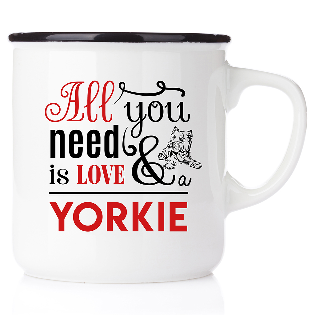 Download All you need is love & Yorkie - Happymug.se