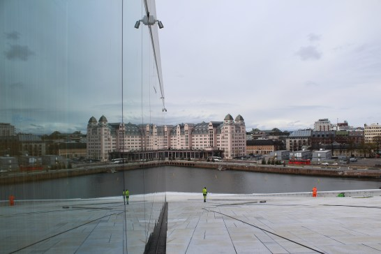 Views from the Oslo Opera House