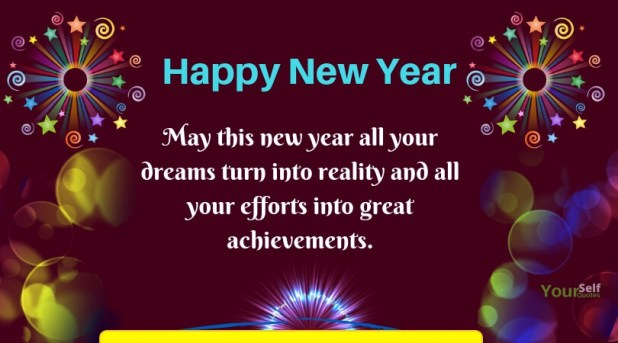 New Year Greeting Cards Dreams