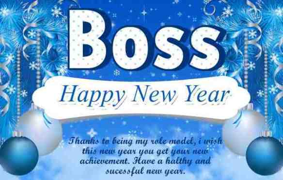 Happy New Year Blessings For Boss