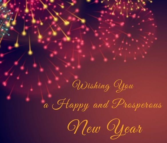 Happy New Year Blessings With Deepa Diya