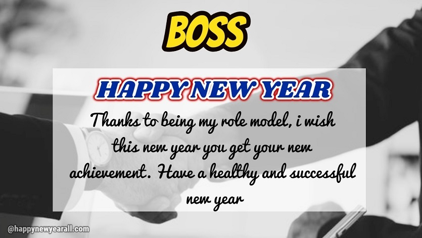 Message for happy new year to boss