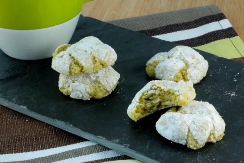 recette amaretti moelleux pistache