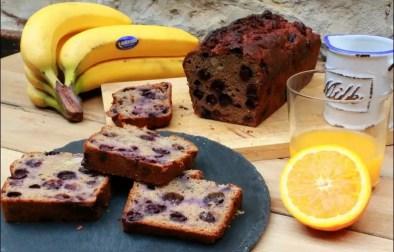 bread cake aux bananes et myrtilles