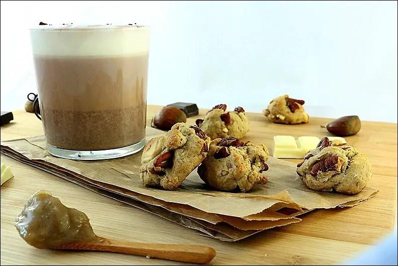 biscuits au marron chocolat blanc noix de pécan