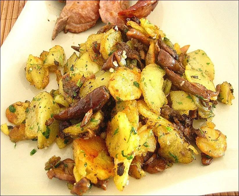 pommes de terre sautées cèpes persillade