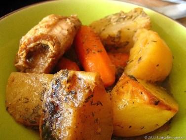 potée de porc aux légumes d'hiver