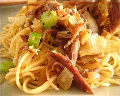 canard confit nouilles chinoises
