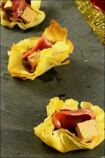 bouchées magret foie gras