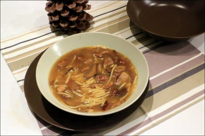 soupe bouillon champignons