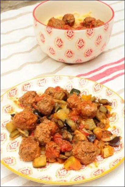 boulettes boeuf veau sauce tomate