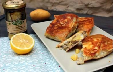 bricks de sardines et pommes de terre aux œufs