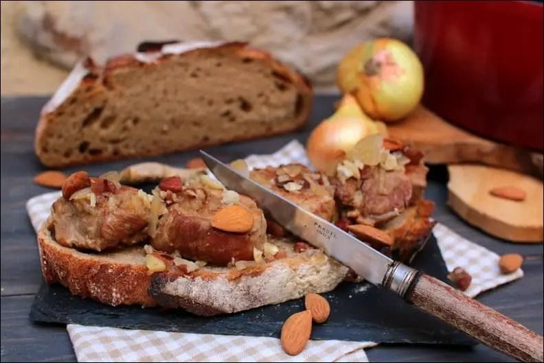 Brouet d'Allemagne de filet mignon (ragoût de filet mignon de porc aux amandes et gingembre)