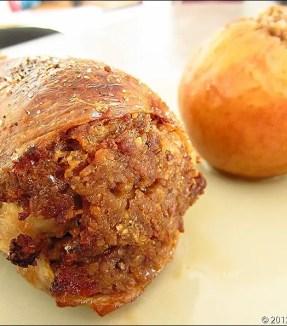 cailles farcies aux pommes et aux marrons