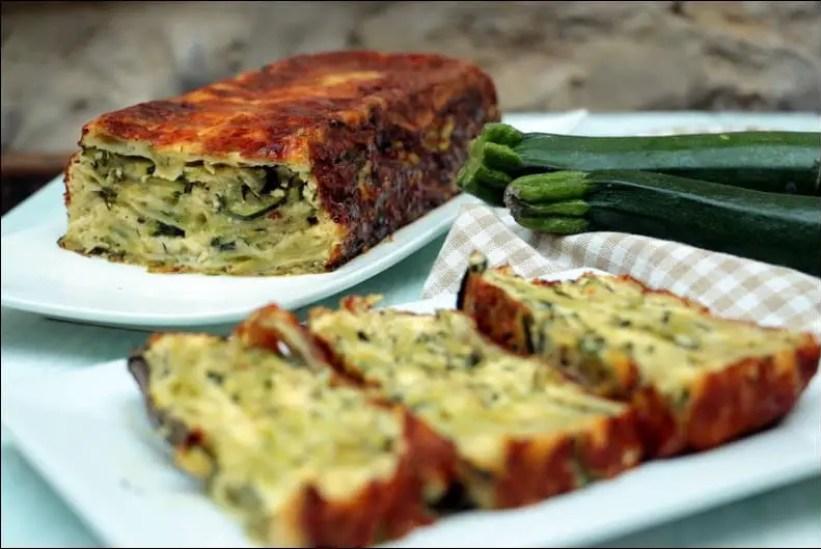 cake de ravioles aux courgettes