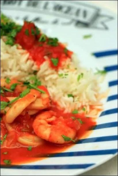 calamars tomate