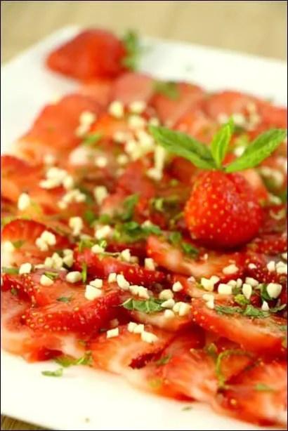 fraises menthe amandes