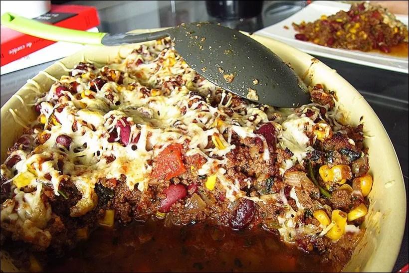 gratin chili con carne