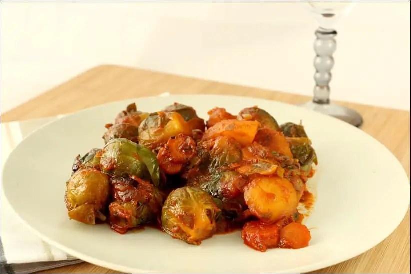 choux de bruxelles à la tomate
