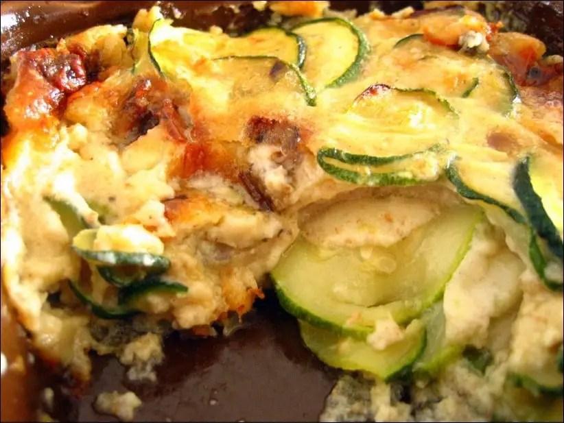clafoutis courgette gorgonzola
