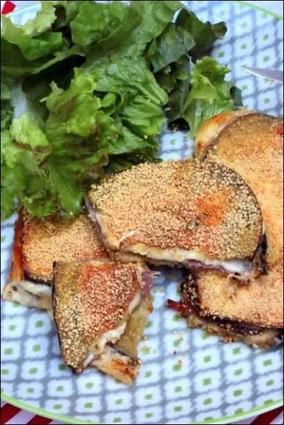 aubergine panee italienne