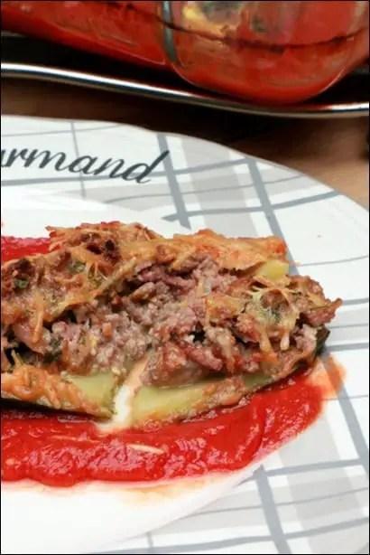 courgettes farcies bœuf tomate