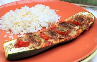 courgettes farcies, tomates et mozzarella
