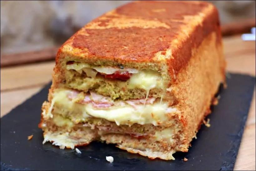 croque cake jambon