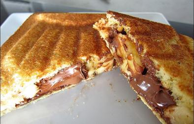 croque-monsieur banane et pâte à tartiner
