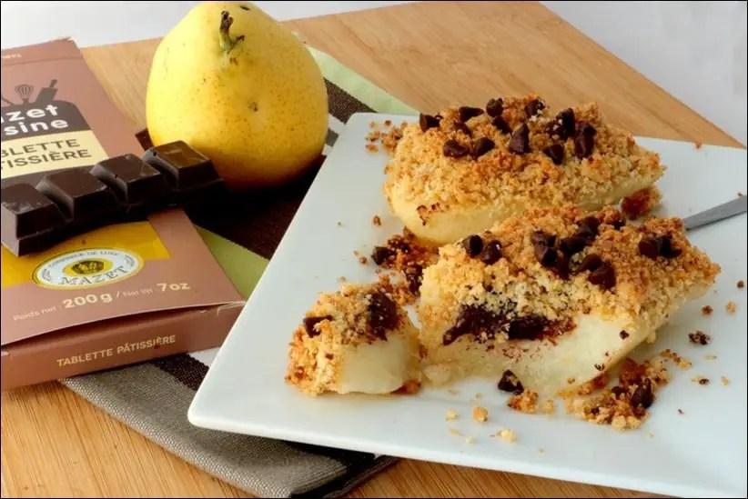 poire chocolat crumble coco