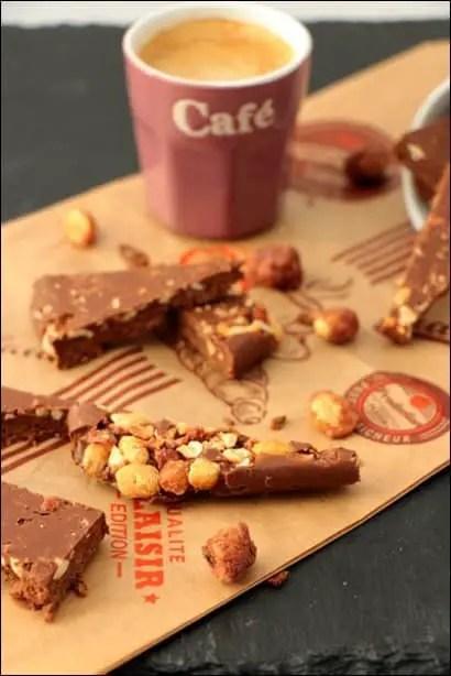 nutella chocolat pralines cacahuètes