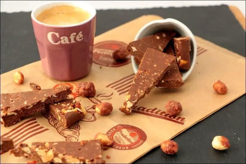 chocolat nutella cacahuètes